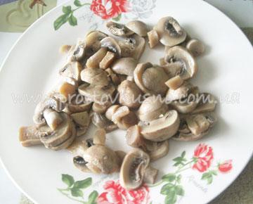 рецепт салатов с куриным филе и шампиньонами