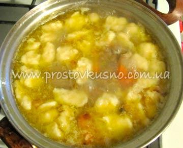 Овощной суп с галушками рецепт