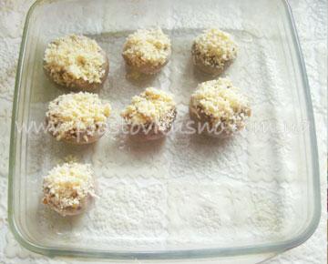 приготовление фаршированных шампиньонов с сыром